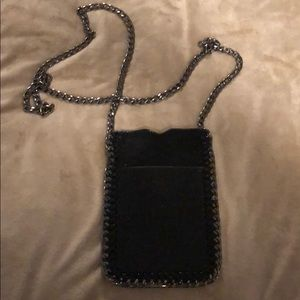Black with chain link strap